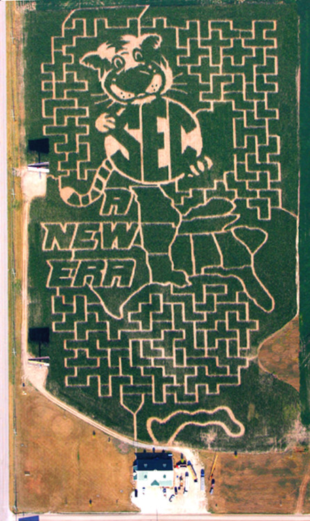 a corn maze in Missouri celebrates joining the SEC