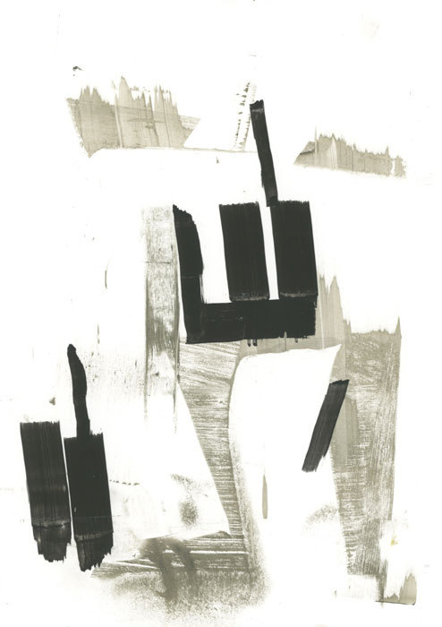 James Miller. oil and ink on synthetic paper, 9.5 x 7.5 inches.  June 2012