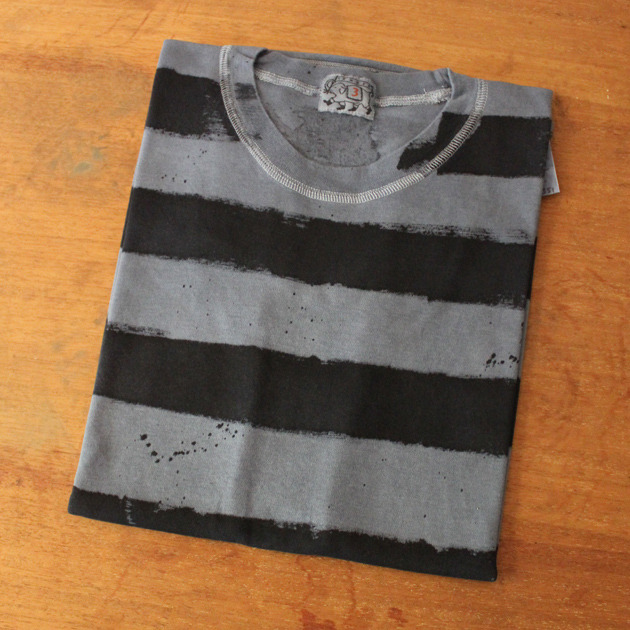 Tender Co. Hand Striped Black Logwood Dyed T Shirt I fucks with this heavy.