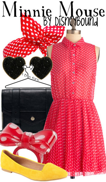 disneybound:  Buy it here! I just did a Minnie Mouse yesterday using Toms but I found this dress and had to do another! It's like Minnie meets The Notebook.