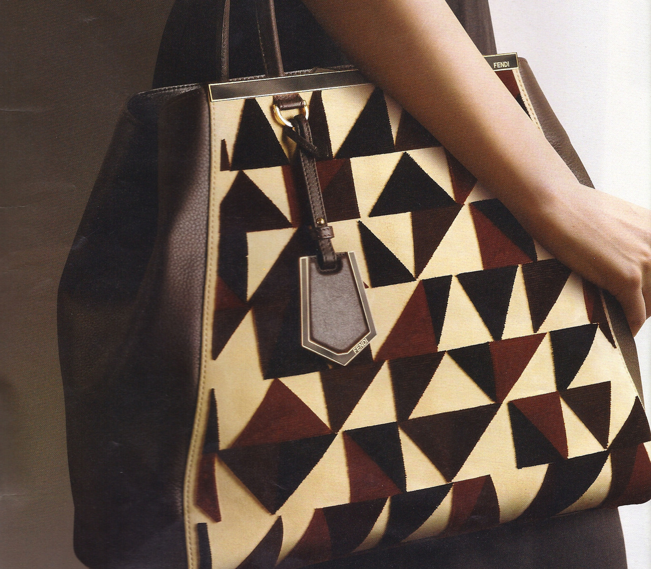 Fendi Cut-Velvet Pattern Tote. [Avail for pre-order @Neiman Marcus.com].