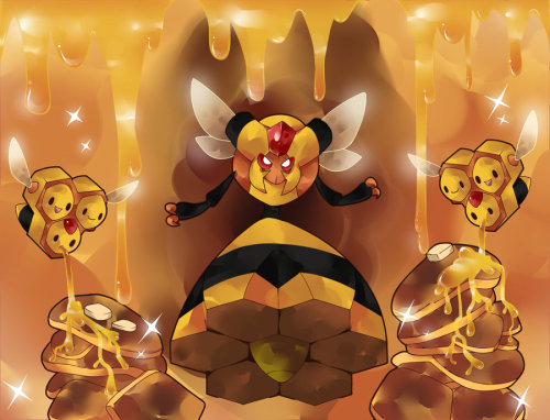 the-one-armed-bandit:  Day 29 - Favorite Bug Type Queen bitch Vespiquen :)