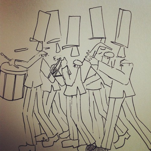 Marching band #marchingband #band #drawing (Publicado com o Instagram)