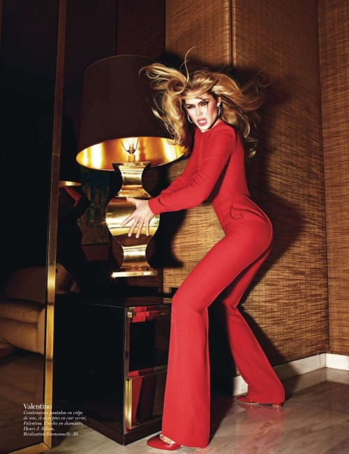 Doutzen Kroes in Valentino, Fall 2012 photographed by Mario Sorrenti for Vogue Paris, August 2012
