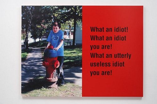 Ken Lum What an idiot!, 2008-2009 aluminium, enamel, c-print, mounted on sintra