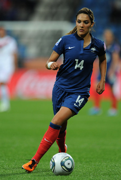 algerian-french central midfield magician louisa nécib simply exudes class. her vision is otherworldly, her touch zidanesque. she's amazing. player of the olympics so far.
