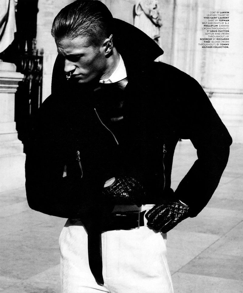 BlackBook Magazine September 2012 Hadrien Mazelier lensed by David Roemer and styled by Christopher Campbell