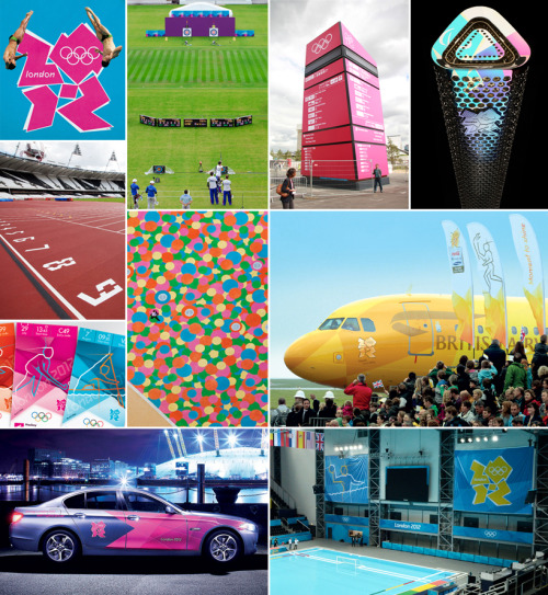London Olympics 2012:  Branding the look of the games (via designboom)