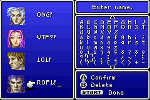 Fun with names, Final Fantasy II edition