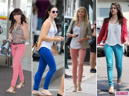 Which celeb do you think wore the bright colored pants look best?