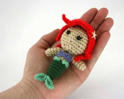 amigurumipatterns:  Amigurumi pattern for Ariel Princess by designer Sahrit.