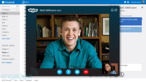 "Outlook.com: Is this really Microsoft's big plan for Skype? Introducing Microsoft's newest email service, a much cleaner and more organized service introduced under the Outlook banner. Unlike Microsoft's other free email service, the long-panned Hotmail, Outlook will launch ad-free with heavy Skype and Twitter integration. The ""Microsoft ID"" will replace the ""Windows Live ID"", and existing members' information will migrate upon sign-up. Outlook.com is also open to new users, though the site appears to be down at this time. Will you guys switch over? (Image via Engadget) source Follow ShortFormBlog: Tumblr, Twitter, Facebook"