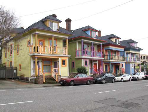laughingsquid:  Painted Houses in Portland, OR  SO tempted to do this to my family home right now. They look so pretty!