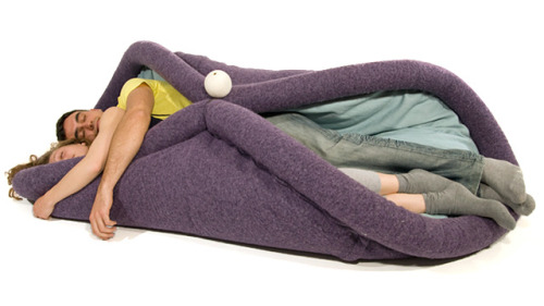 laughingsquid:  Blandito, A Transformable Burrito-Like Pad for Lazy Living  Burrito wasn't the first thing that came to mind…