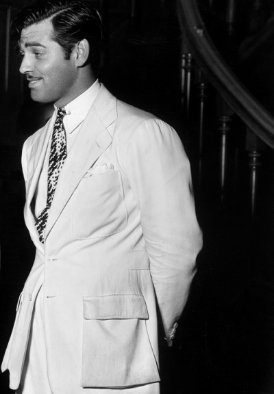 williamclarkgable:  Clark Gable on the set of China Seas, 1935