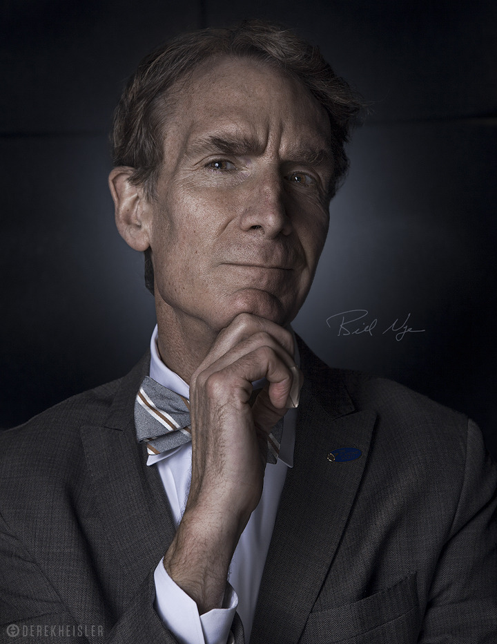 "jtotheizzoe:  ""Hmm, maybe I should do a web show …"" … said Bill Nye, thinkaliciously. Well, it sounds like he got his wish. According to the most recent episode of the Nerdist Podcast, with Bill as guest, he is bringing The Science Guy back to life on the Nerdist YouTube channel! Did you hear me? Bill Nye is coming back! Rejoice, all! *cough*needasidekick?*cough* (photo by Derek Heisler)"