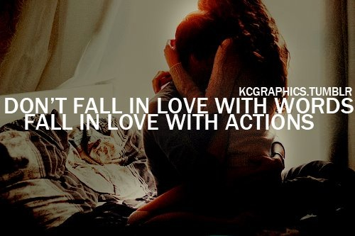 Actions speak louder than words ..show the Love people !