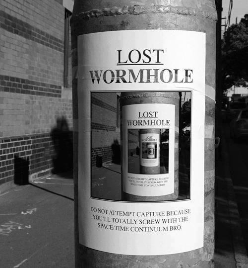 npr:  Wormhole on the loose?! Run away! —Daisy