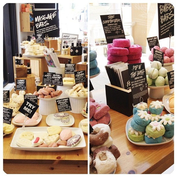 jasmine-blu:  I had so much fun in lush today :3 I got to try out all of the new eyeliners/eyeshadows and lipsticks :33333 (Taken with Instagram)