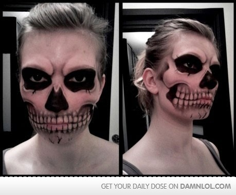 Best Halloween face paint ever ! haha
