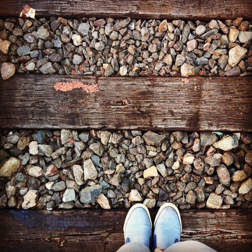 #fromwhereistand #rail #tracks #pdx #sepdx  (Taken with Instagram)