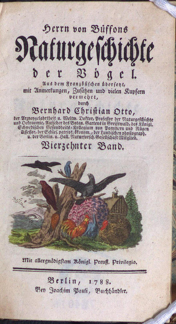 Herr von Buffons Naturgeschichte der Vögel… by Library & Archives @ Royal Ontario Museum on Flickr.