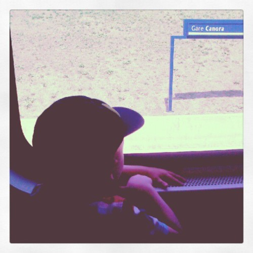 First train ride, big adventure!!  (Taken with Instagram)