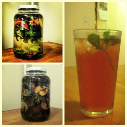 Mojito iced tea revisited: start, brewed, and served. Photo collage courtesy of @frametastic. (Taken with Instagram)