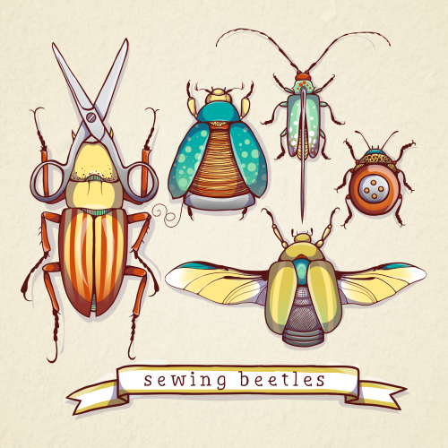 Sewing Beetles by Kendall Plant
