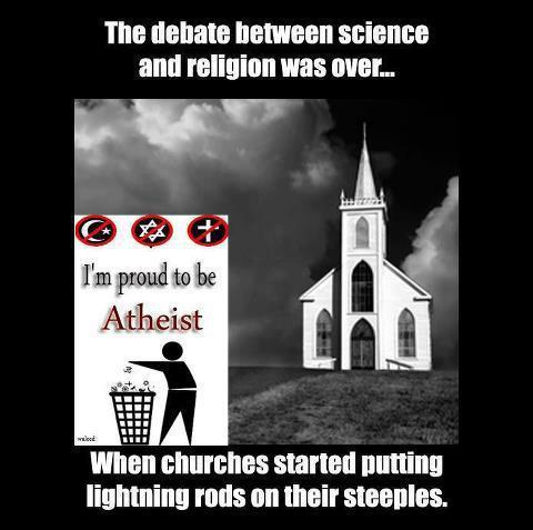 atheist-overdose:  The debate between science and religion was over….follow for the best atheist posts on tumblr