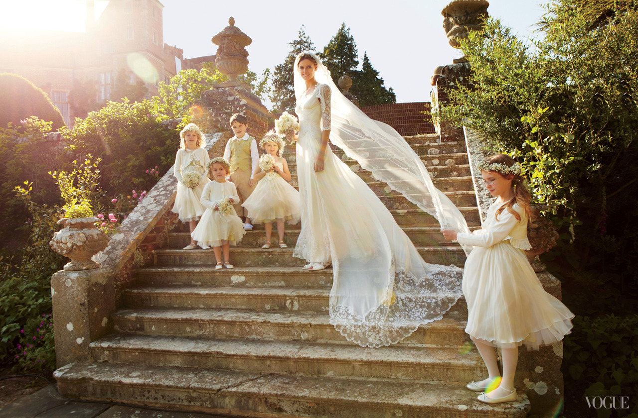vogue:  Model Jacquetta Wheeler's English Wedding Photographed by Robert Fairer See the slideshow