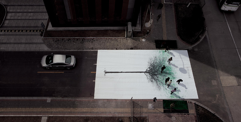 'green pedestrian crossing' by jody xiong via designboom