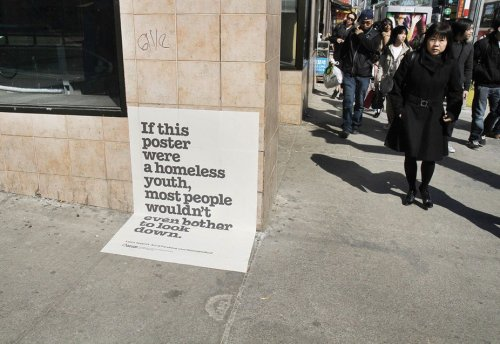 Great campaign to raise awareness on homelessness via http://tinyurl.com/d2l3u75