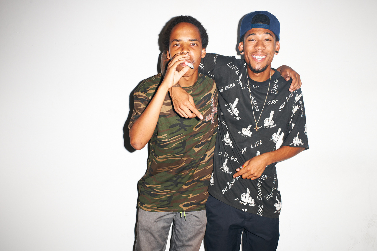 terrysdiary:  Earl Sweatshirt and Hodgy Beats at my studio #25
