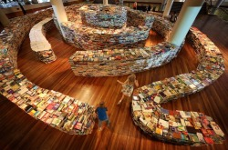 cjwho:  Giant Book Maze is Author's Unique Fingerprint
