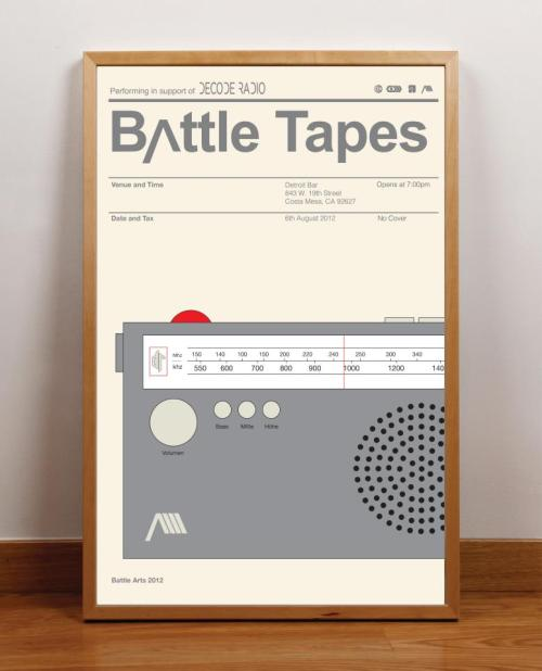 Upcoming Performance: Next Monday! Battle Tapes will be performing at Detroit Bar in Costa Mesa in support of Decode Radio and the first night of their residency. No cover, no excuses, no mercy!