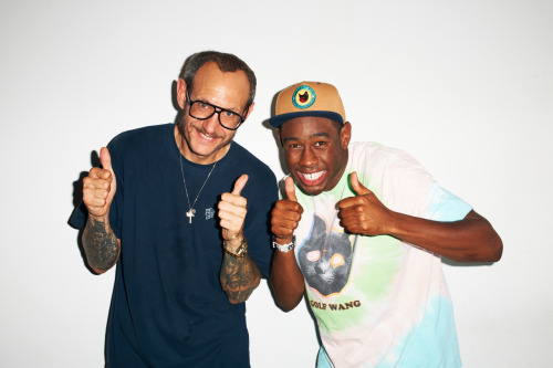 Me and Tyler The Creator at my studio #28
