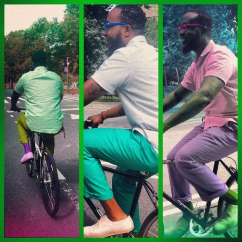 Bike riding in Central Park today with the Mister! @Bong_Bong_Bong (Taken with Instagram)