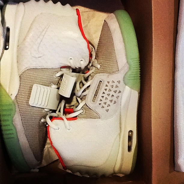 "Just in: Air Yeezy 2 Sz 12 ""platinum"" $2200 (Taken with Instagram)"