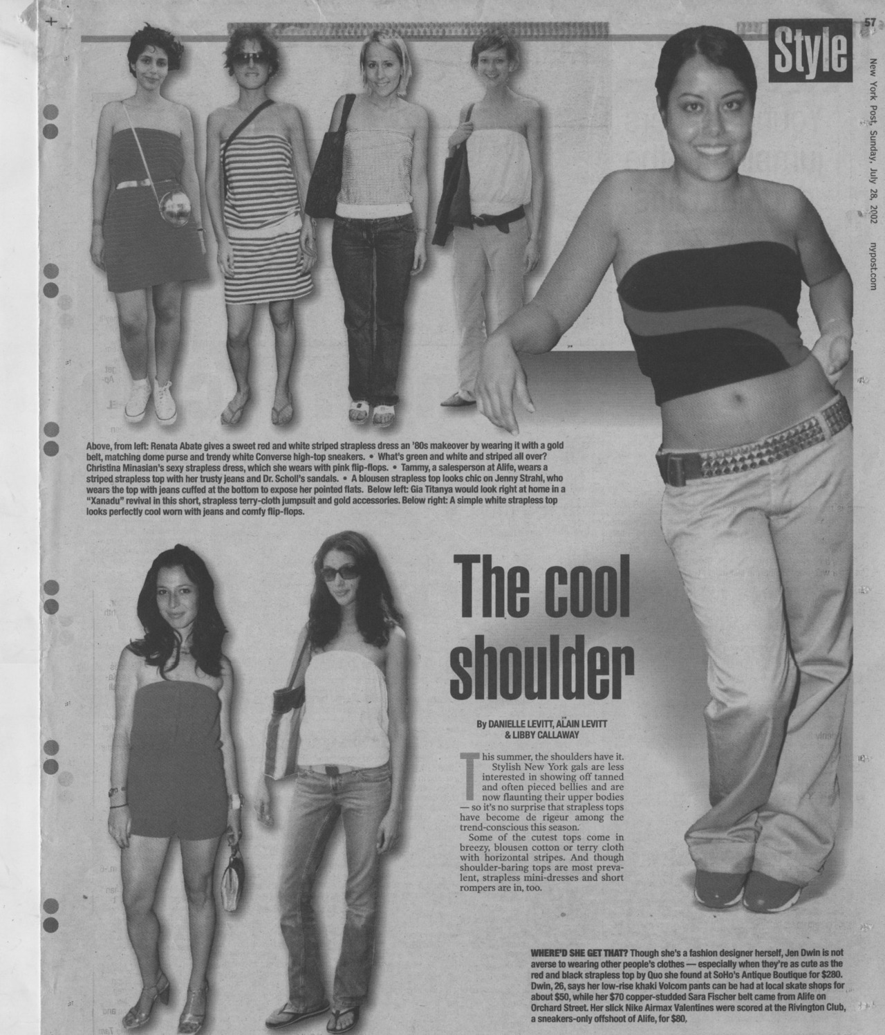 NY POST STREET FASHIONServing you strapless summer style from 2002!