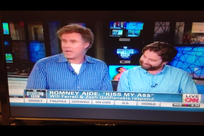producermatthew:  So this just happened on CNN.  FJP: Will Ferrell & Zack Galifianakis respond. Oh my.