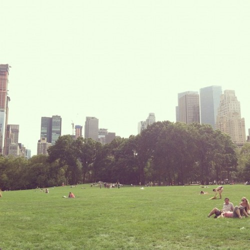 Taken with Instagram at Central Park - Sheep Meadow