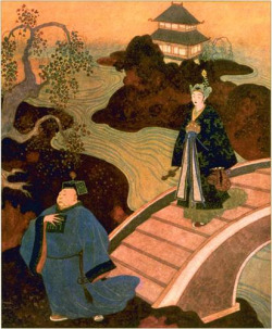 Edmund Dulac, Princess Badoura and the Astrologer, 1913 on Flickr.