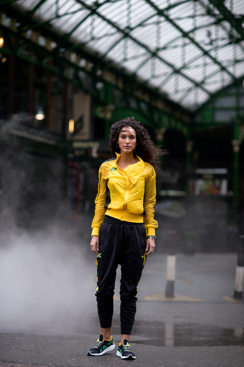 liamsawthis:  Syanne Patterson at Leni's Models Shot in London for the Puma Cedella Marley collection Styled by Harris Elliot