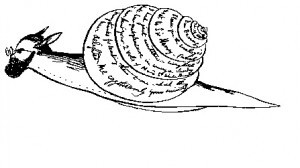 E. Lear, Self-portrait as snail (30prufrock)