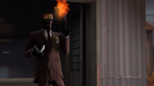 "A high-resolution render of the ""Officer Spy"" loadout I use in TF2. Isn't it gorgeous?"