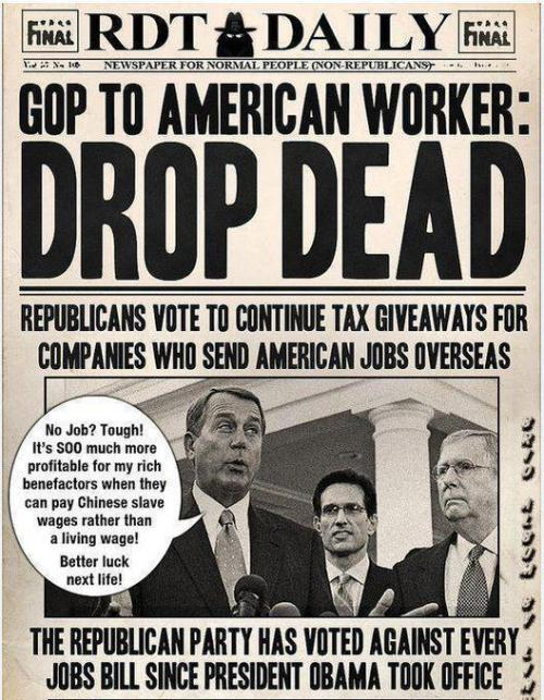 destroythegop:  That's EVERY jobs bill.   Republicans. It's what they are.   How do I get this newspaper delivered to my house.