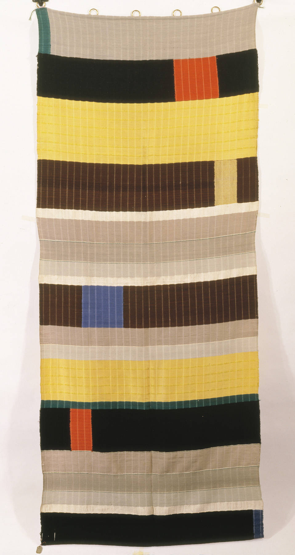 ANNI ALBERS WALL HANGING, wool and silk, 1925 (Die Neue Sammlung Staatliches Museum für angewandte Kunst, Munich ©2008 The Josef and Anni Albers Foundation / Artists Rights Society (ARS), New York)