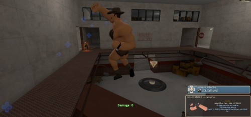 Saxton Hale, smelling his pits in the middle of a fight.