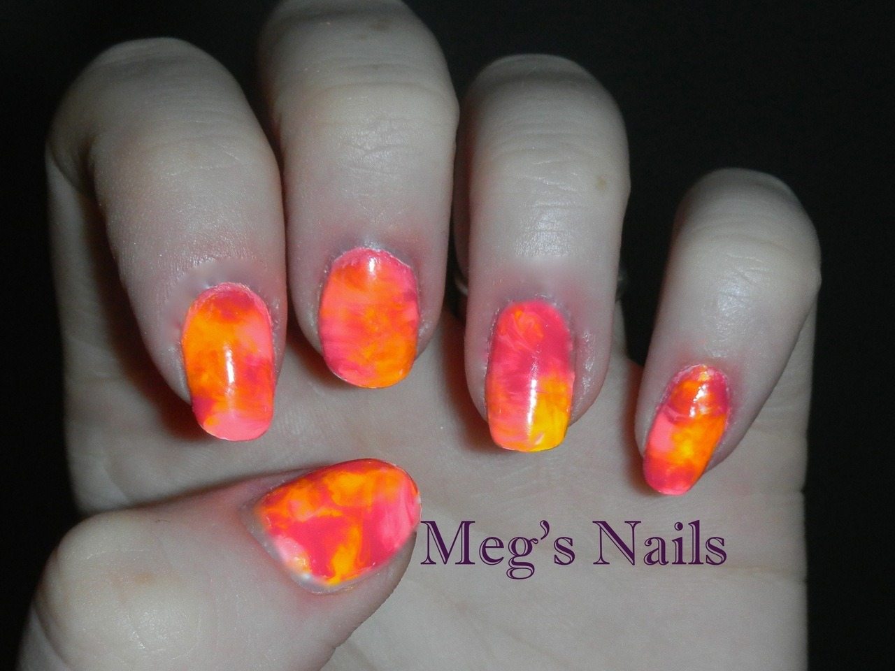 neon tie die china glaze- flip flop fantasy china glaze- sun worshiper china glaze- wicked style
